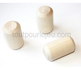 Grand cylindre en bois naturel 31 x 54 mm
