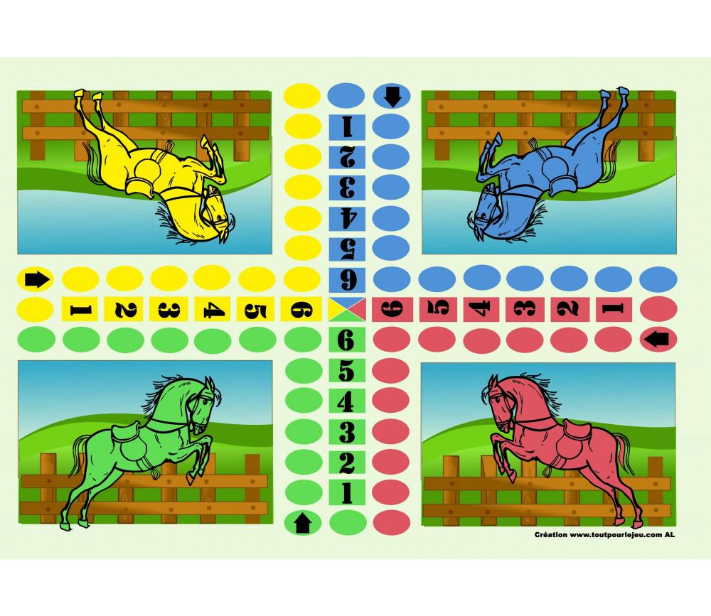 Jeu des petits chevaux à télécharger gratuit à imprimer