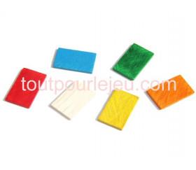 Jeton en bois petit rectangle pour jeux