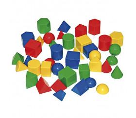 Lot 40 pions de formes géométriques diverses