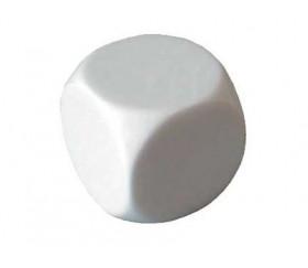Dé 18 mm plastique neutre à personnaliser blanc