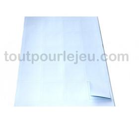 20 carrés autocollants blancs 45 mm étiquettes