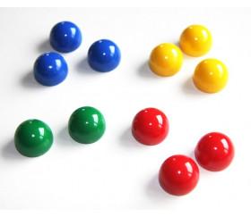 6 pions domes 12x15 mm demi boule plastique