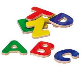 52 grandes lettres en bois magnétiques de 4.5 cm de hauteur