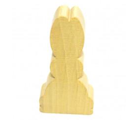 Grand Pion lapin en bois jaune pour jeu 26 x 53 mm