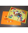 Carton A4 jaune/orange fluo pour vos jeux