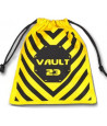 Sac jaune 11x10 cm inscription VAULT 23