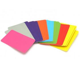 33 cartes colorées à personnaliser 59 x 91 mm