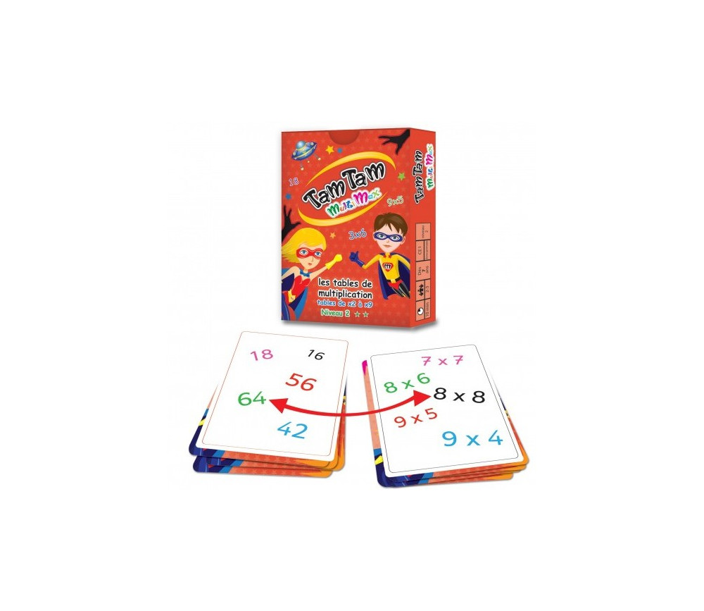 Tamtam multimax jeu multiplication niveau 2 for Jeu des tables