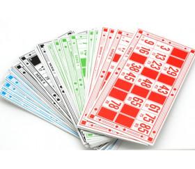 48 Cartons de loto en carton + 90 jetons numérotés