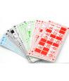 48 Cartons de loto en carton 16.5 x 8.5 cm
