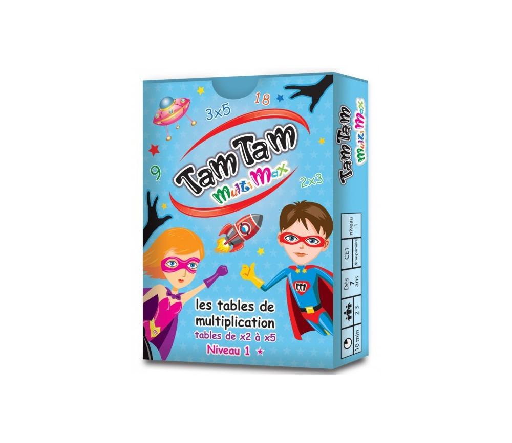 Tamtam multimax jeu multiplication niveau 1 - Jeux avec les tables de multiplication ...