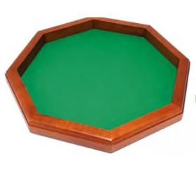 Grande piste de dés à jouer en bois 45 cm octogonale