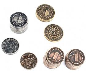 30 Pièces en métal numérotées valeur 1 3 5