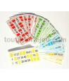 48 Cartons de loto en carton 16.5 x 8 cm