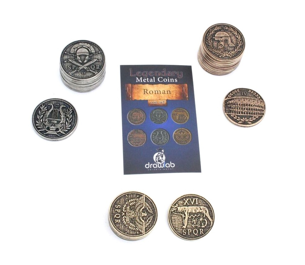 24 Pièces romaines métal Roman Legendary