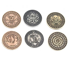 24 Pièces métal Pirates Legendary
