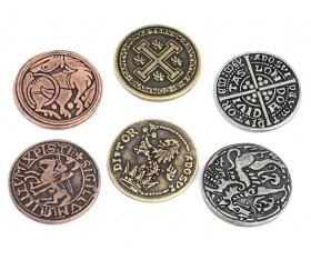 24 Pièces médiévales métal Legendary