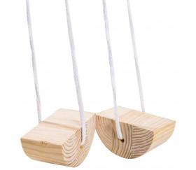 Mini échasses en bois arrondies