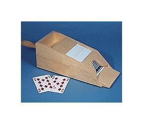 Distributeur de cartes jouer sabot en bois
