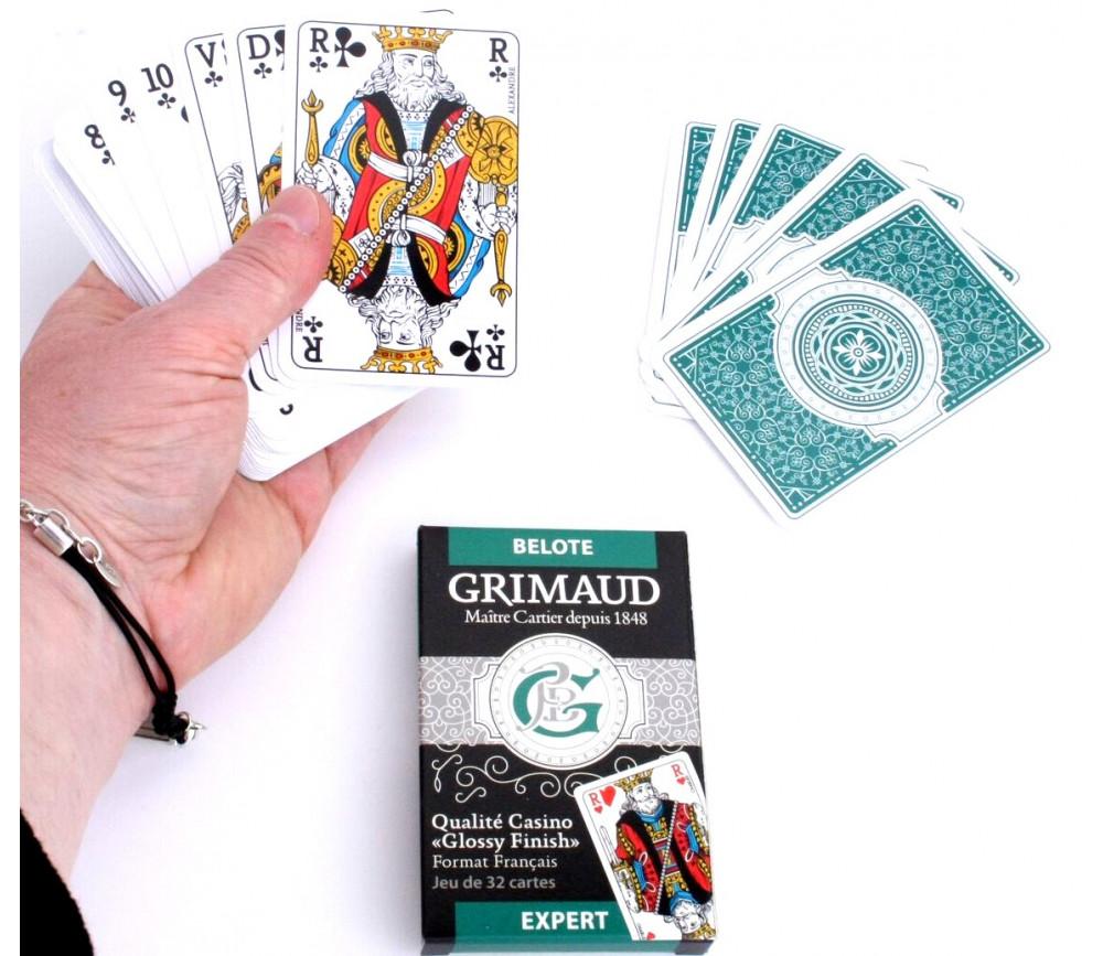 Jeu de cartes 32 cartes Grimaud EXPERT Belote