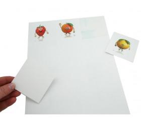 12 carrés autocollants blancs 70 mm étiquettes