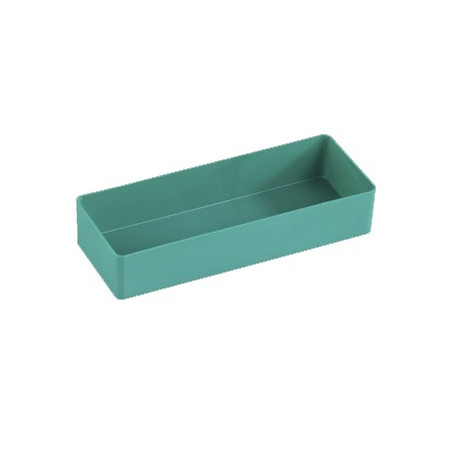 Bac rectangulaire 203x74x38 mm plastique vert
