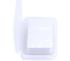 Boite clips mini plastique vide 91x66x21 mm