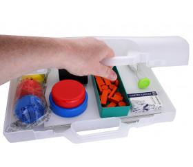 Valise plastique 406 x 296 x 100 mm pour jeu vide