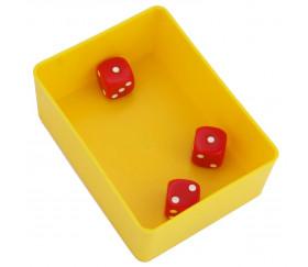 Bac rectangulaire 100x74x38 mm plastique jaune