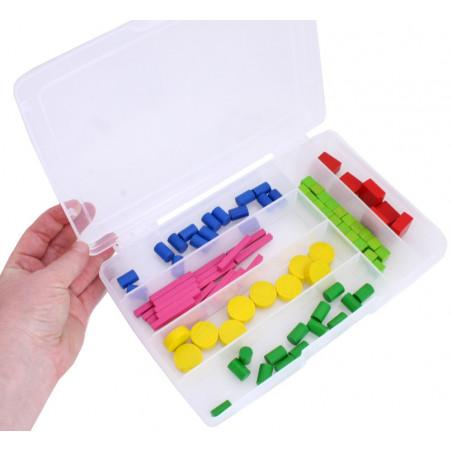 Boite 6 compartiments de 24.5 x 16.5 x 4 cm en plastique