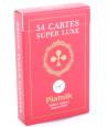Jeu de cartes 54 cartes Piatnik rouge super luxe