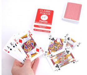 Jeu 54 cartes à jouer poker rouge classic piatnik