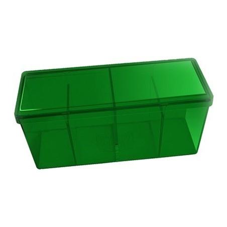 Boite 4 compartiments verte plastique 20 x 9.5 x 7 cm