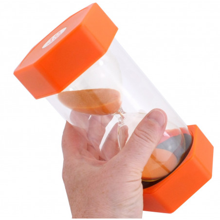 Grand Sablier 10 minutes - 16 cm de haut super lisible orange