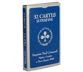 Jeu Belote 32 cartes Grimaud super qualité bleu