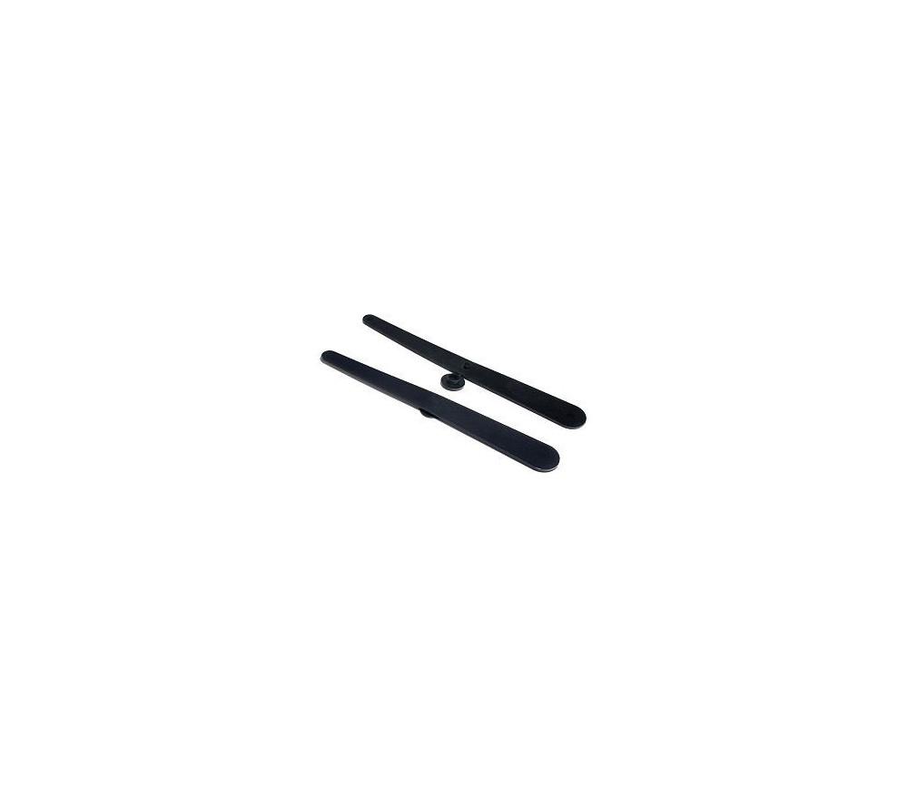 Flèche 200 mm noire (20 cm) tournante pour jeu