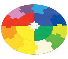 Puzzle bois rond - 17 pièces Montessori cercle annuel