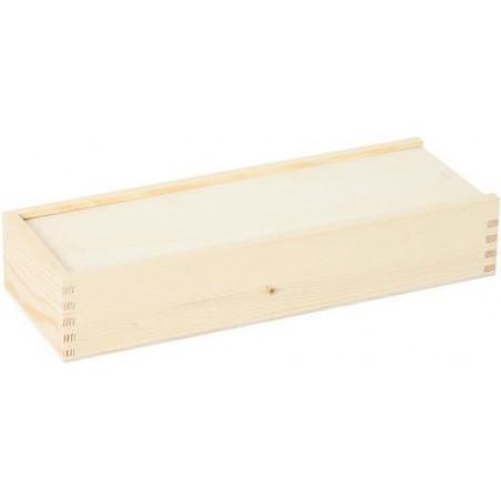 Coffret bois M+ long glissière pour ranger vos accessoires de jeux