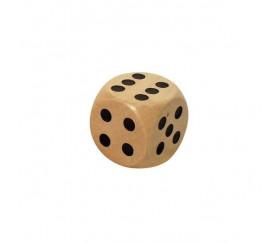 Dé bois 18 mm hêtre de 1 à 6 pour jeu de société