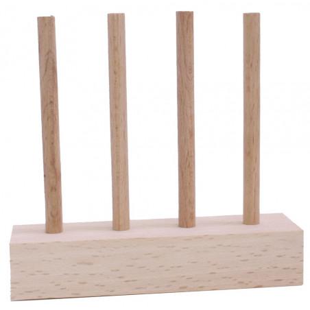 Abaque de tri bois - Socle 4 tiges taille identique