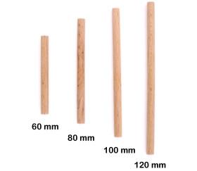 Cylindre tourillon 100 x 6 mm bois