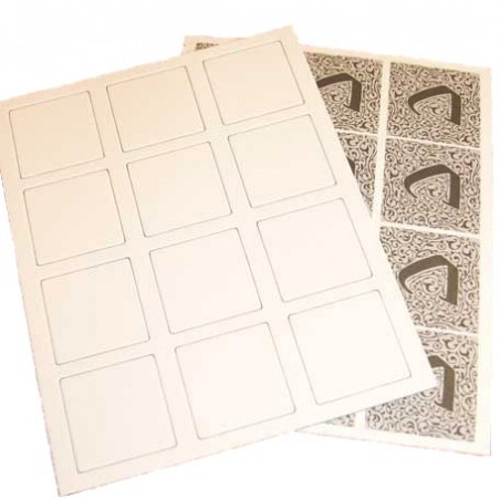 12 Tuiles jeu Carcassone 45 x 45 mm 1 face neutre