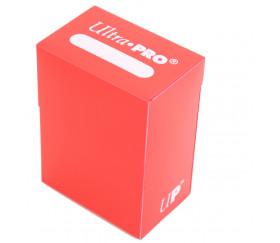Deck box - Boite cartes de jeux - plastique ROUGE 9.5 x 7 x 4.5 cm