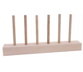 Abaque de tri bois - Socle 6 tiges + 60 jetons