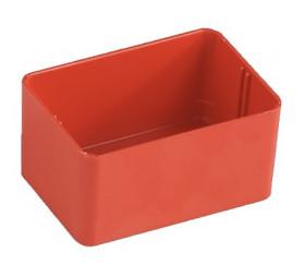 Bac rectangulaire 79x49x38 mm plastique rouge