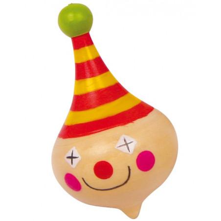 Toupie Clown en bois 3 x 3 x 5 cm