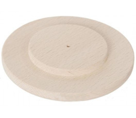 Palet disque rond 10 cm - bords arrondis - double épaisseur