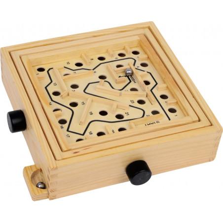 Jeu Labyrinthe en bois 22 x 21 x 5.5 cm à billes