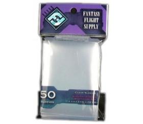 50 protèges cartes 59 x 92 mm pochette sleeves euro standard fantasy flight